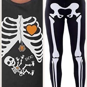 Tops - Maternity skeleton t shirt and skeleton leggings